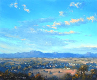 painting in oil plein air australian landscape sketch andy dolphin