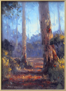 forest painting workshop in oil