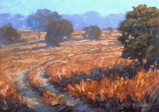 landscape workshop in oil