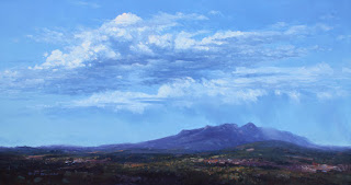 Rain over Porongurup Range. Landscape oil painting by andy dolphin
