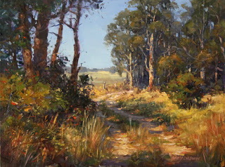 Landscape oil painting by andy dolphin