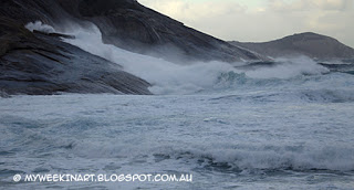 Salmon Holes, Albany, in stormy seas. Andy Dolphin