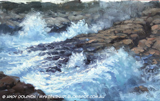 Torndirrup, seascape oil painting by Andy Dolphin.