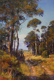 Landscape oil painting, step 3 final, by andy dolphin