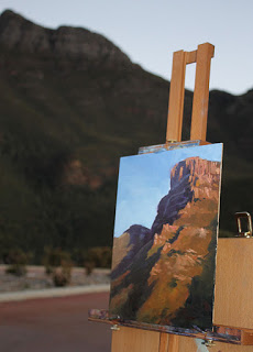 Bluff Knoll - plein air oil painting by Andy Dolphin