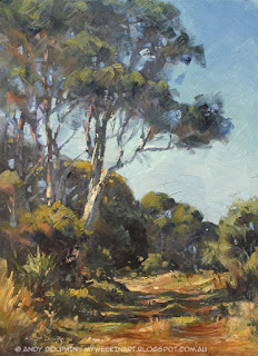 Torbay plein air landscape painting in oil by Andy Dolphin