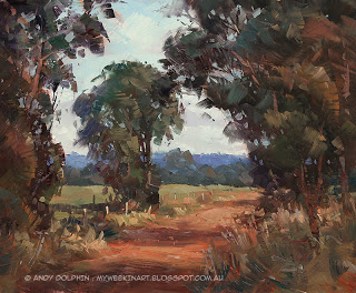 plein air landscape in oils by Andy Dolphin