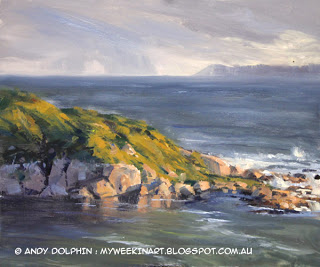 Shelter Island, Mutton Bird, Albany. Pleion air seascape by Andy Dolphin.
