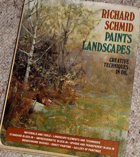 Richard Schmid Paints Landscapes. Creative techniques in oil. Book.