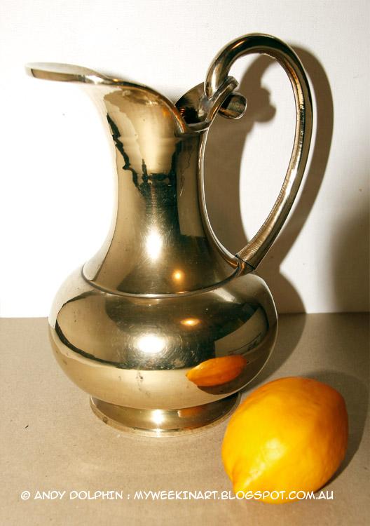 polished brass Indian ewer pitcher jug