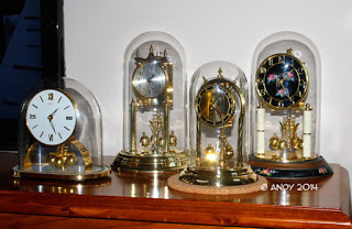 400-day anniversary glass dome clock collection