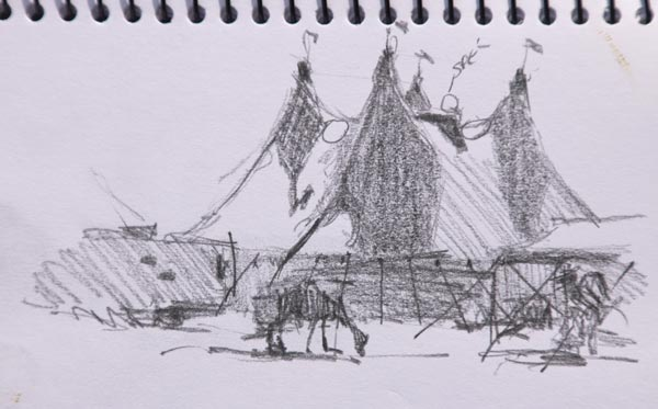 hudsons circus albany thumbnail sketch by Andy Dolphin