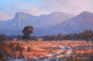 porongurup australian landscape oil painting