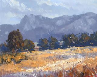 plein air mountain painting
