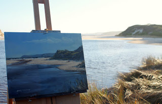 Torbay Inlet plein air seascape by Andy Dolphin