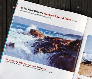 australian artist magzine 2nd prize seascape in oils andy dolphin