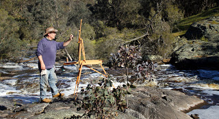 Andy Dolphin, plein air artist with French easel