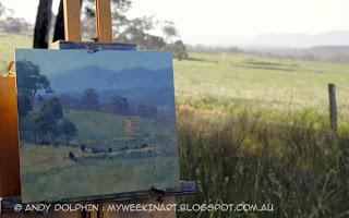 Plein air landscape oil painting - Western Australia - Andy Dolphin