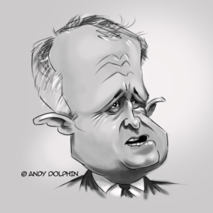 Malcolm Turnbull digital caricature video by Andy Dolphin